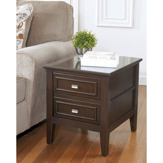 Signature Designs by Ashley 'Larimer' Dark Brown Rectangular End Table