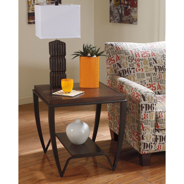 Signature Designs By Ashley Rollins Square End Table: Signature Designs By Ashley 'Brashawn' Square Medium Brown