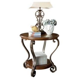 Signature Designs by Ashley Nestor Round Medium Brown End Table