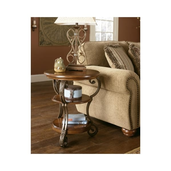 Nestor Medium Brown Chair Side End Table On Sale Overstock 9158406