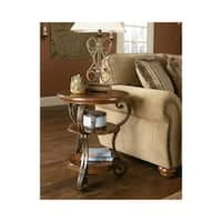Signature Designs by Ashley Nestor Medium Brown Wood Chair-side End Table