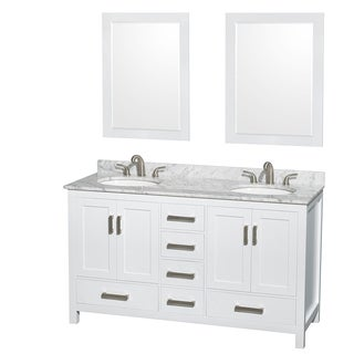 Wyndham Collection Sheffield White 60-inch Double Vanity