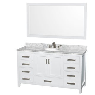 Wyndham Collection Sheffield White 60-inch Single Vanity