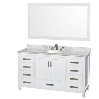 wyndham collection sheffield white 60inch single vanity