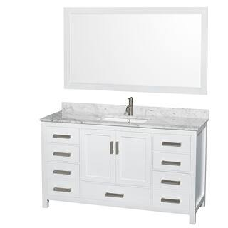 Wyndham Collection Sheffield 60 inch Single White Vanity. 51 60 Inches Bathroom Vanities   Vanity Cabinets For Less
