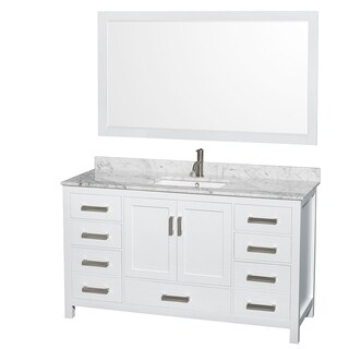 Beau Wyndham Collection Sheffield 60 Inch Single White Vanity