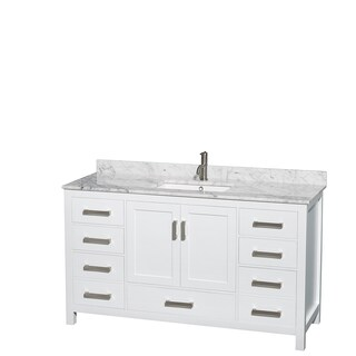 Wyndham Collection Sheffield 60-inch Single White Vanity (3 options available)