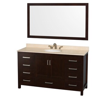 Wyndham Collection Sheffield Espresso 60-inch Single Vanity