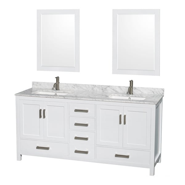Shop Sheffield White 72 Inch Double Bathroom Vanity With