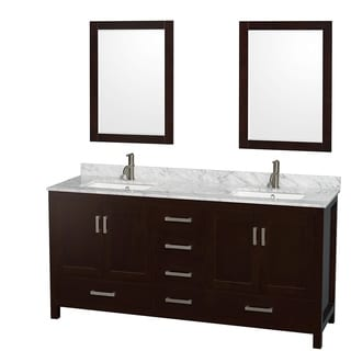 Wyndham Collection Sheffield Espresso 72-inch Double Vanity