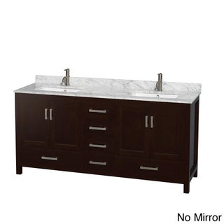 Wyndham Collection Sheffield Espresso 72-inch Double Vanity (4 options available)