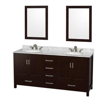 Inspirational Espresso Medicine Cabinet with Mirror