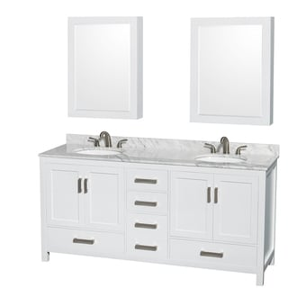 Charmant Wyndham Collection Sheffield 72 Inch Double White Vanity