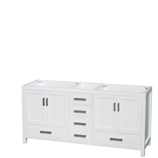 Wyndham Collection Sheffield 72-inch Double White Vanity (More options available)