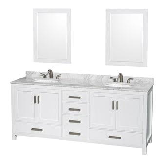 shop wyndham collection berkeley white 80 inch double bathroom rh overstock com