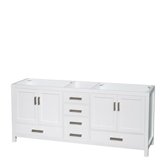 Wyndham Collection Sheffield White 80-inch Double Vanity (More options available)