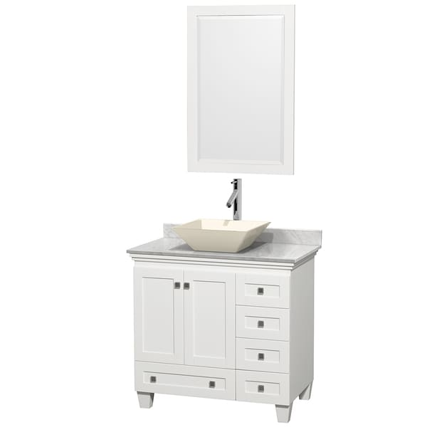 Wyndham Collection Acclaim White 36-inch Single Vanity