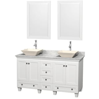 Wyndham Collection Acclaim 60-inch Double White Vanity