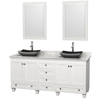 Wyndham Collection Acclaim 72-inch Double White Vanity