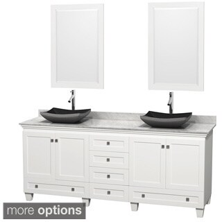 Wyndham Collection Acclaim 80-inch Double White Vanity