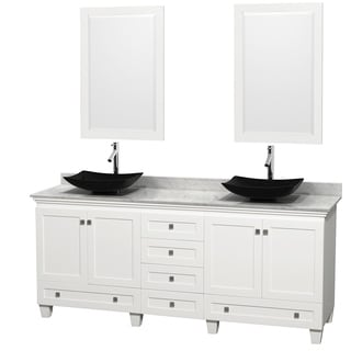 Wyndham Collection Acclaim White 80-inch Double Vanity