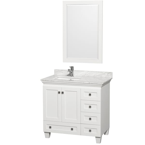 Merveilleux Wyndham Collection Acclaim 36 Inch Single White Vanity