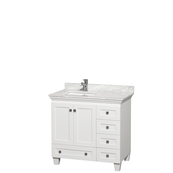 36 Inch White Vanity Part - 18: Wyndham Collection Acclaim 36-inch Single White Vanity - Free Shipping  Today - Overstock.com - 16337939