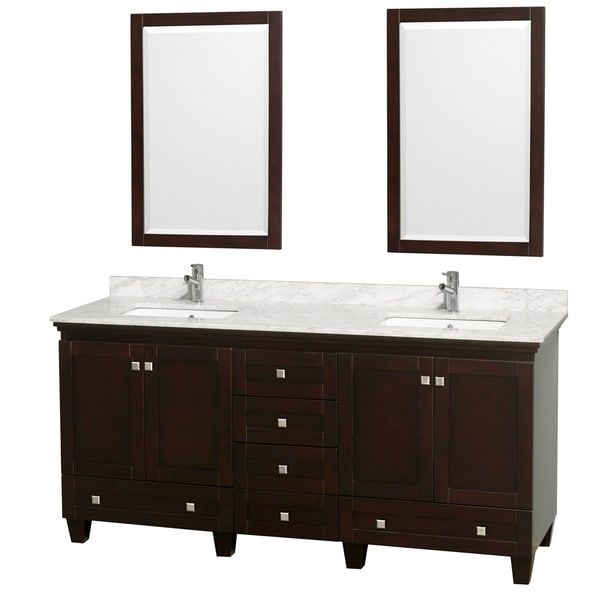 Wyndham Collection Acclaim Espresso 72-inch Double Vanity