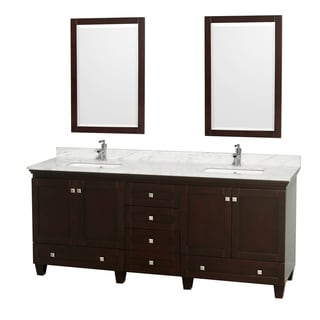 Wyndham Collection Acclaim 80-inch Double Espresso Vanity