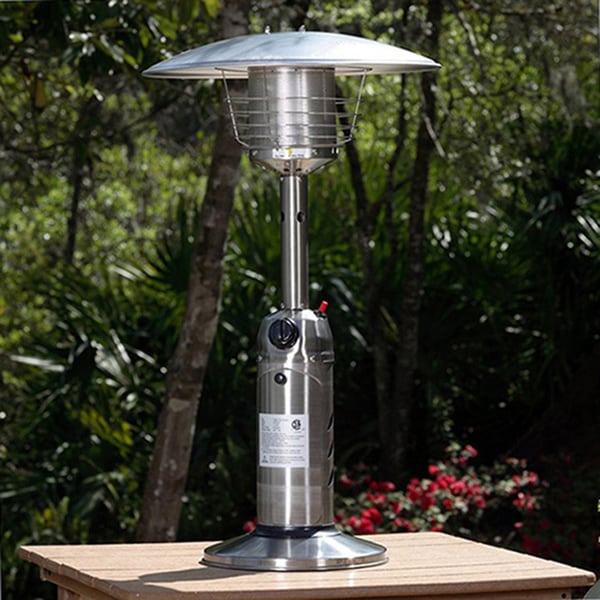 AZ Patio Heaters Portable Stainless Steel Finish Table Top Heater