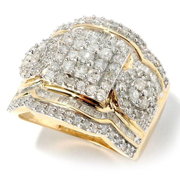 14k Gold 1 1/2 ct TDW Diamond Ring