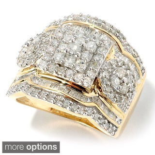 14k Gold 1 1/2 ct TDW Diamond Ring (H-I, I2-I3)