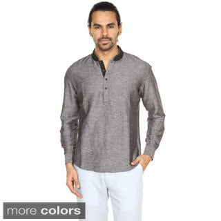In-Sattva Anita Dongre Men's Embellished Mandarin Collar Pullover Tunic (India)