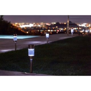 Pure Garden Outdoor Sleek Solar Lights (Set of 6)