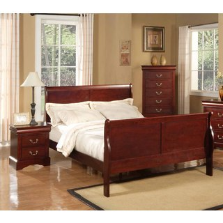 Louis Philippe II Cherry Sleigh Bed