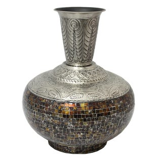 Luxor Artisan Handcrafted Glass Mosaic Accent Vase