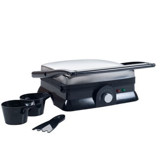 Chef Buddy Electric Dual Purpose Non-stick Grill or Panini Press