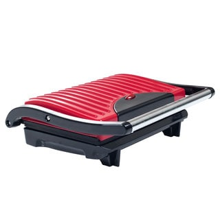 Chef Buddy Electric Red Non-stick Grill and Panini Press