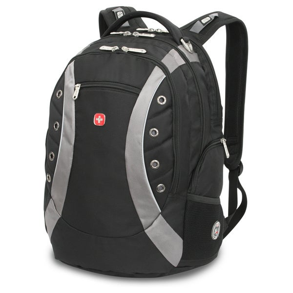 SwissGear 15-inch Black/ Grey Laptop Backpack - Free Shipping ...