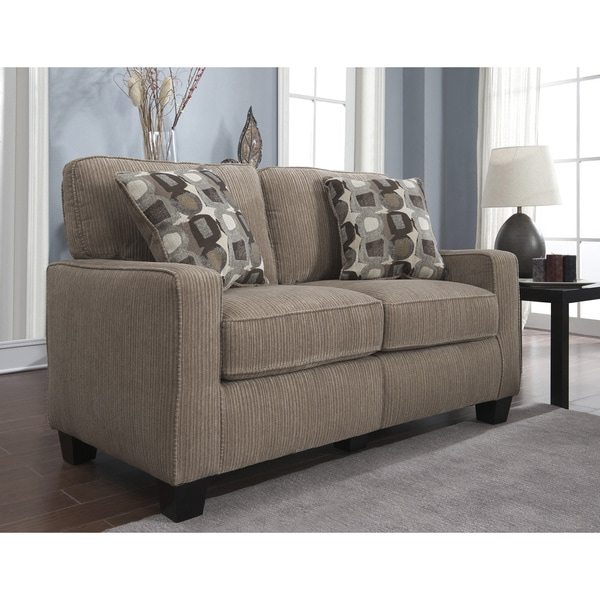 Serta RTA San Paolo Collection Inch Platinum Fabric Loveseat - Love seat and sofa