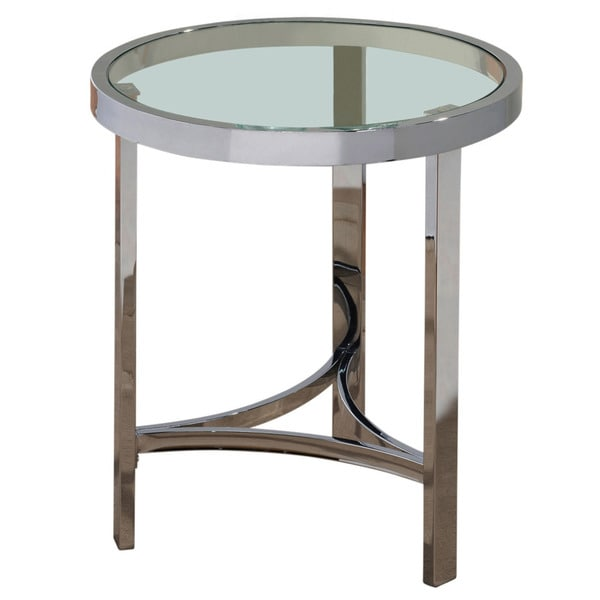 Strata 20 inch chrome glass accent table free shipping for 12 inch accent table
