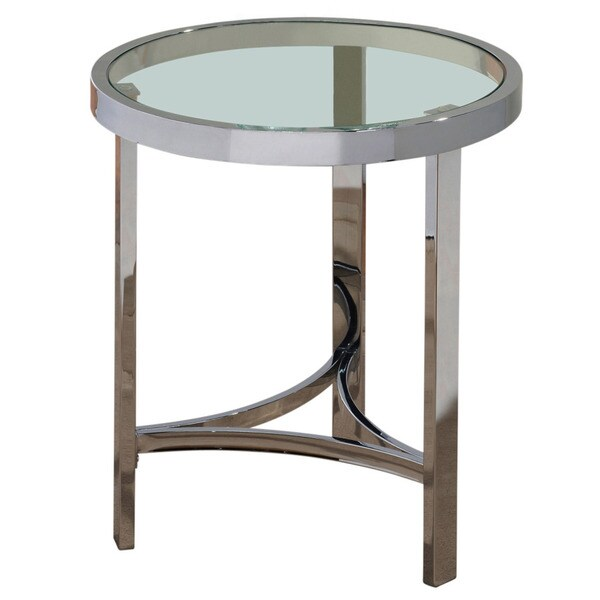 Strata 20 Inch Chrome Gl Accent Table
