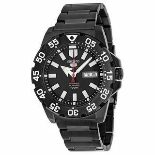 Seiko 5 Men's SRP489K1 Sports Black Watch