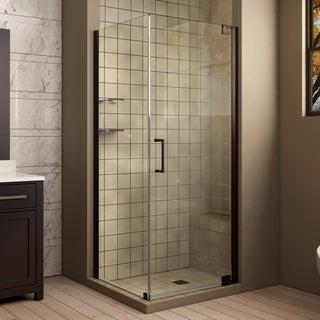 DreamLine Elegance 30 in. W x 30 in. D x 72 in. H Pivot Shower Enclosure
