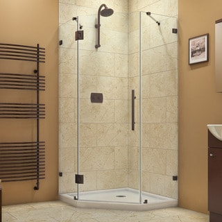 DreamLine Prism Lux 40.375 in. W x 40.375 in. D x 72 in. H Hinged Shower Enclosure