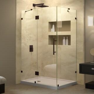 DreamLine Quatra Lux 46.312 in. W x 32.250 in. D x 72 in. H Hinged Shower Enclosure