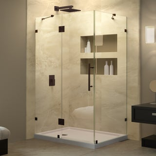 DreamLine Quatra Lux 46.312 in. W x 34.312 in. D x 72 in. H Hinged Shower Enclosure