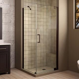 DreamLine Elegance 34 in. W x 34 in. D x 72 in. H Pivot Shower Enclosure