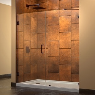 DreamLine Unidoor Lux 60 in. W x 72 in. H Hinged Shower Door