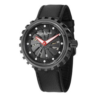 Stuhrling Original Men's Cyclone Automatic Leather Strap Watch